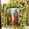 Ο εορτασμός των Αποστόλων Πέτρου και Παύλου στους ομώνυμους Ι.Ν. στη Δάφνη και στα Λεύκτρα Θηβών.